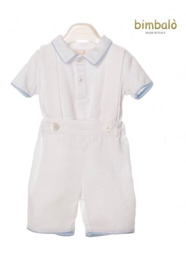 Bimbalò Boys White Two Piece Set